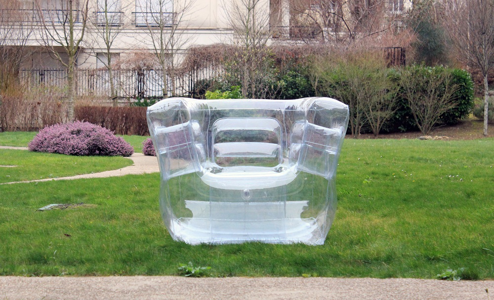fauteuil gonflabme transparent cubrik fugu loc illico clermont ferrand. Black Bedroom Furniture Sets. Home Design Ideas