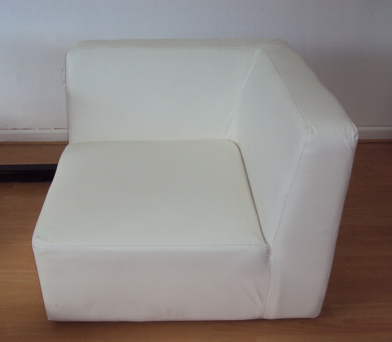FAUTEUIL D'ANGLE BLANC