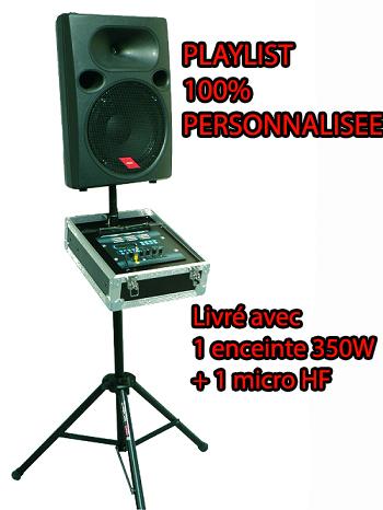 Machine à danser avec playlist personnalisée
