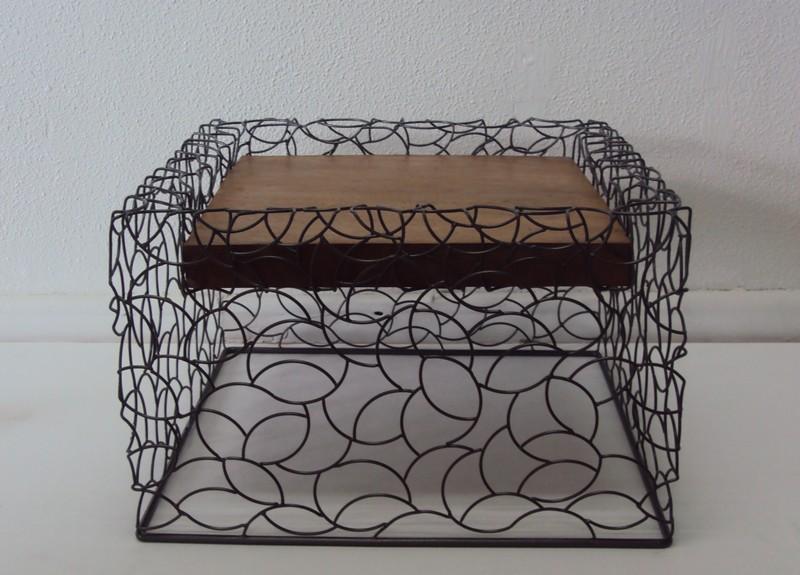 Table basse métal et bois