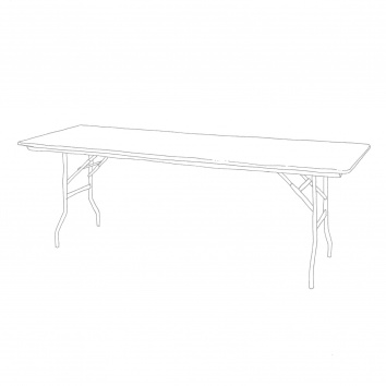Table rectangulaire 76 x 220